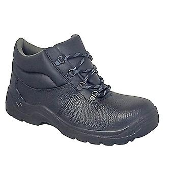 Grafters Mens Padded Collar D-Ring Chukka Safety Boots With Steel Midsole