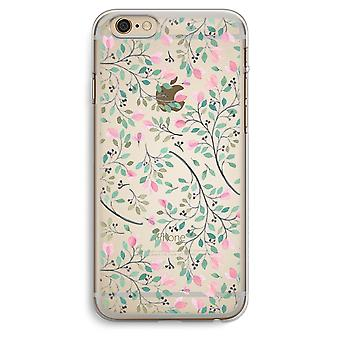 iPhone 6 Plus / 6S Plus caja transparente (suave) - flores delicadas