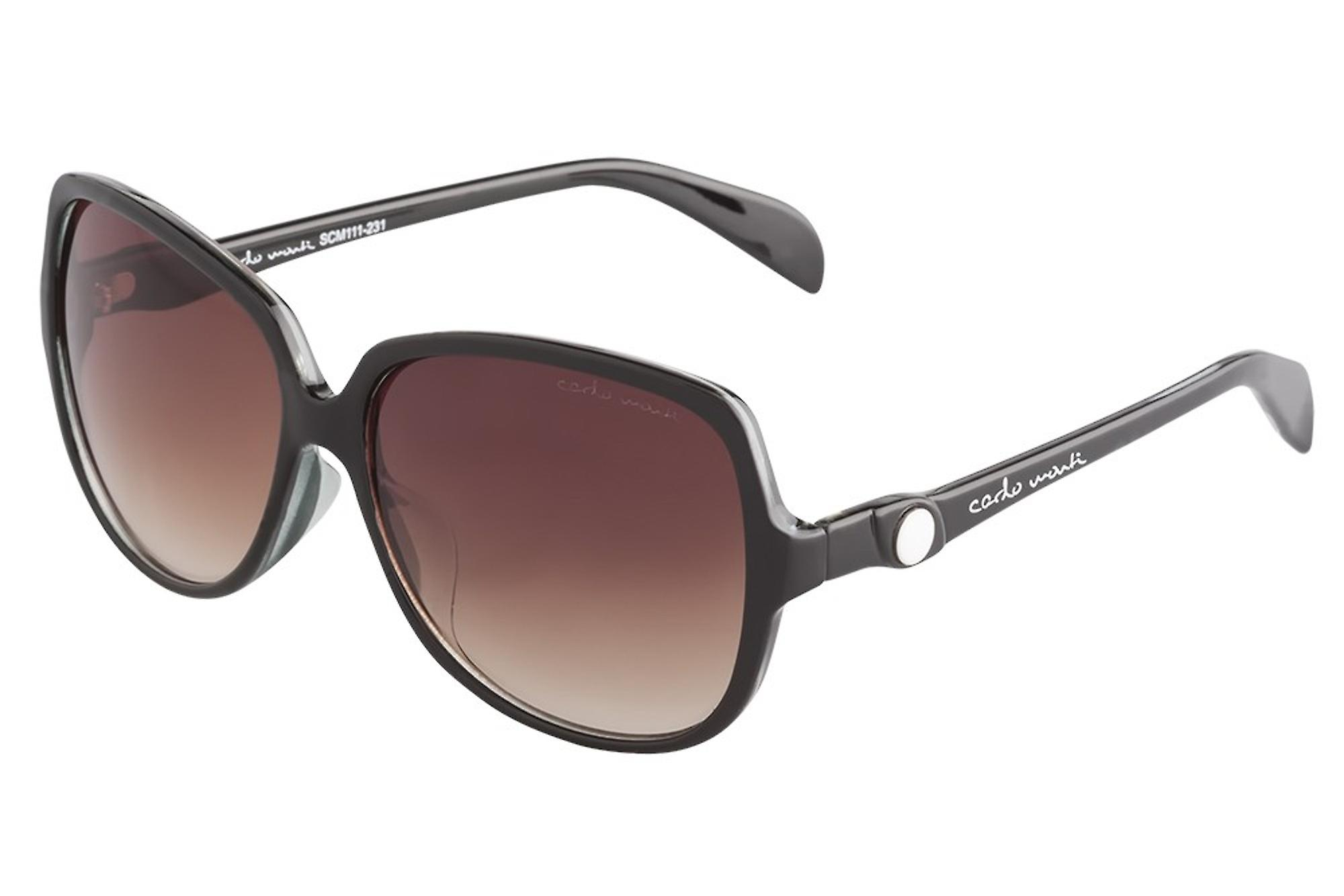 Elegant sunglasses for women by Carlo Monti with 100% UV protection | solid polycarbonate frame, high quality sunglasses case, microfiber glasses pouch and 2 years warranty | SCM111-231 Ravenna