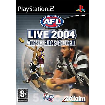 AFL Live 2004 Aussie Rules fodbold-ny