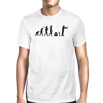 Zombie utviklingen Mens hvit t-skjorte bomull gave For Zombie elskere