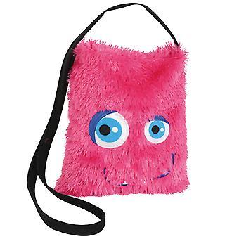Monster taske pink plush taske