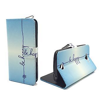 Matkapuhelin tapauksessa pussi mobiili Acer liquid Z530 kirjoituksella olla onnellinen sininen