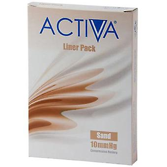 Activa Compression Tights Tights Liners O/Toe Sand Med 10Mmhg 3