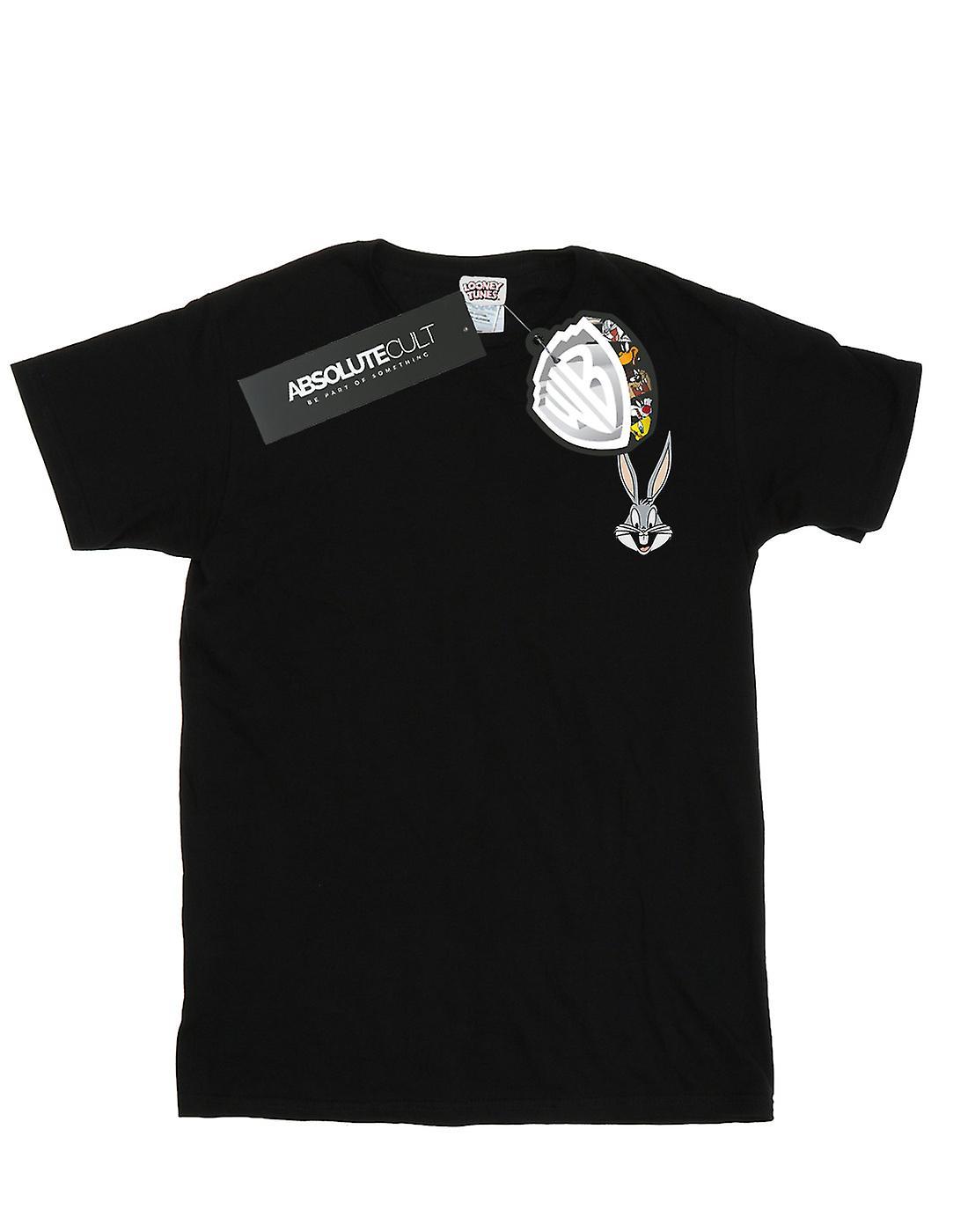 Looney Tunes Men's Bugs Bunny Breast Print T-Shirt