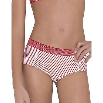Cycki idealna dziewczyna majtki 30.33.0042-341 Anny Stripe wydrukować czerwono zwięźle łaciate