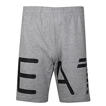 EA7 Grey Logo Cotton Shorts
