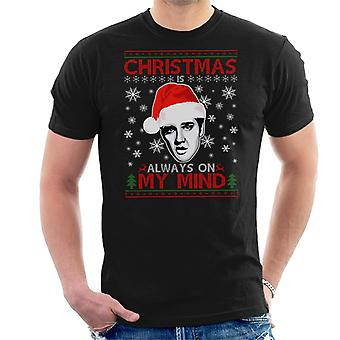 Natale di Elvis Presley è sempre sulla t-shirt mia mente maschile