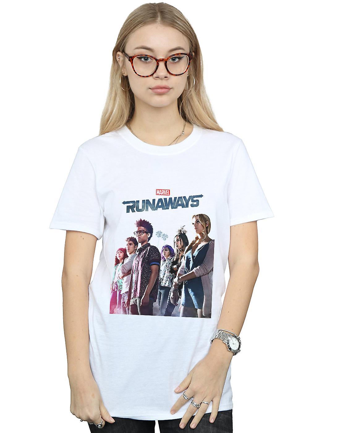 Marvel Women's Runaways Misty Poster Boyfriend Fit T-Shirt