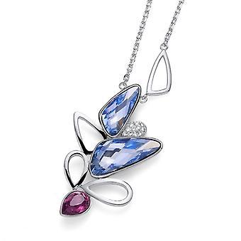 Oliver Weber Pendant Blossom Rhodium, Violet