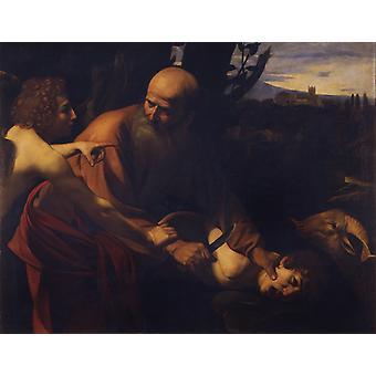 The Sacrifice of Isaac, Caravaggio, 50x40cm