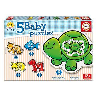 Educa Borras Baby zwierząt 5 kawałek zestaw puzzli (14864)