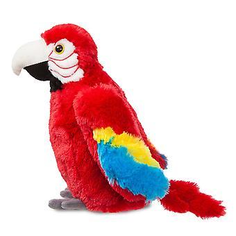 Aurora Flopsies - Muriel Scarlet Macaw Parrot Soft Toy 30cm