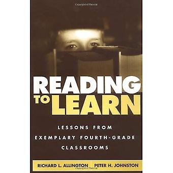 Lecture pour apprendre: Lessons from exemplaires salles de classe de CM1