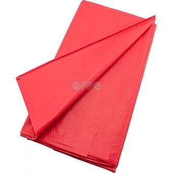 Pack of 2 Table Covers Plastic Red 54inch x 54'inch Reusable Table Cloth