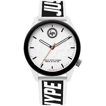 Hype | Mens | White And Black Silicone Strap | HYU018BW Watch