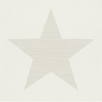 Big Star Wallpaper Stars Kids Teen Children's Bedroom Beige/WhiteRasch