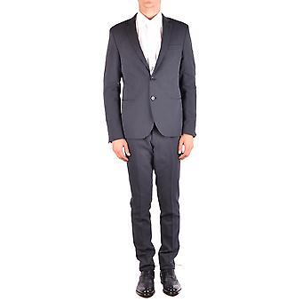 Manuel Ritz Ezbc128030 Men's Black Polyester Suit