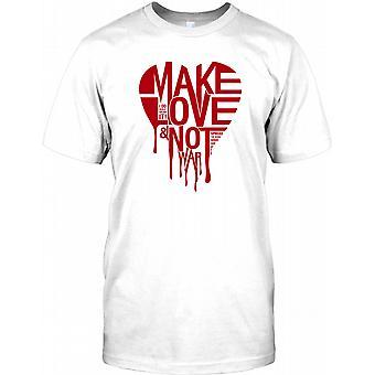 Elsker ikke krig - Cool Anti-krig Herre T-shirt