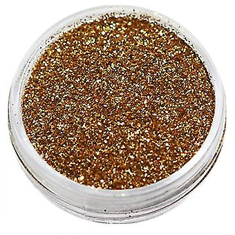 1x Fine-grained glitter golden brown