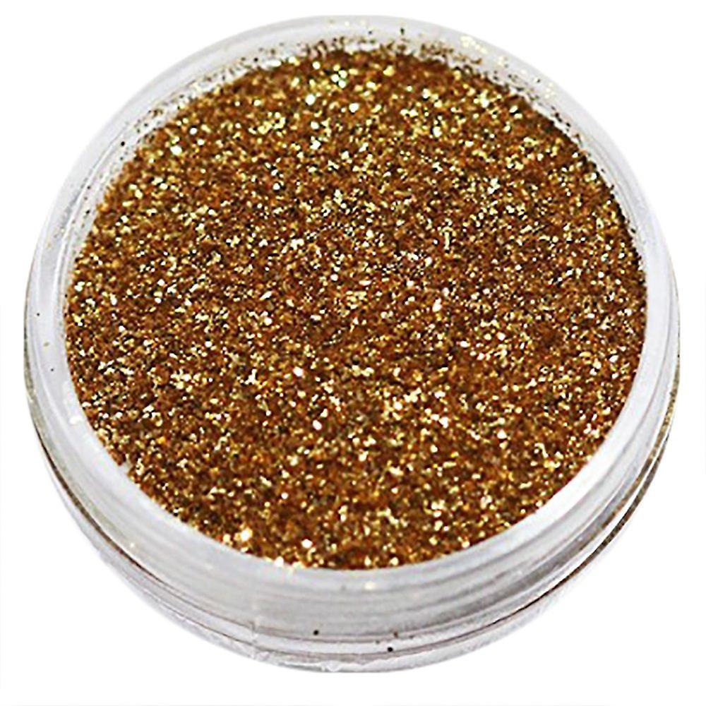 1x finkornet glitter gylden brun
