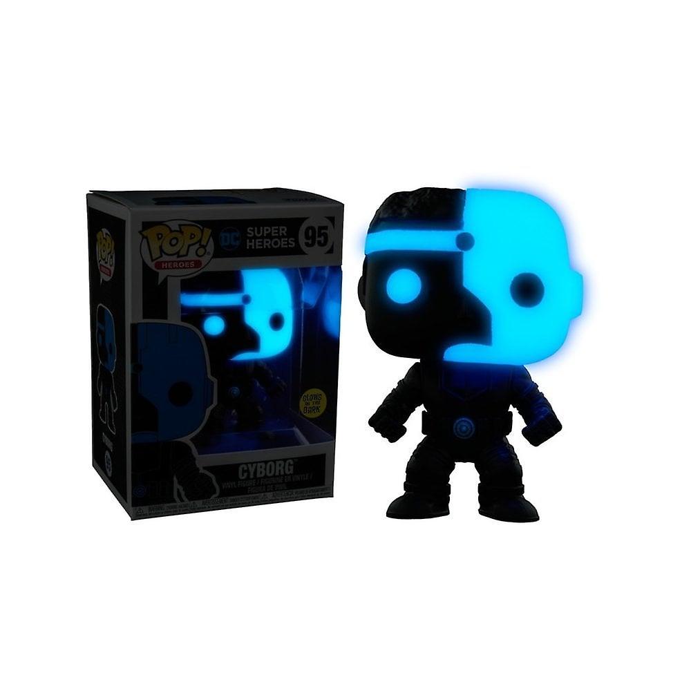Justice League Cyborg Silhouette GITD Exclusive Pop! Vinyl