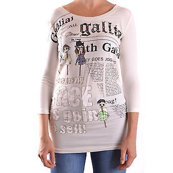 John Galliano Ezbc164012 Women's White Cotton Sweater