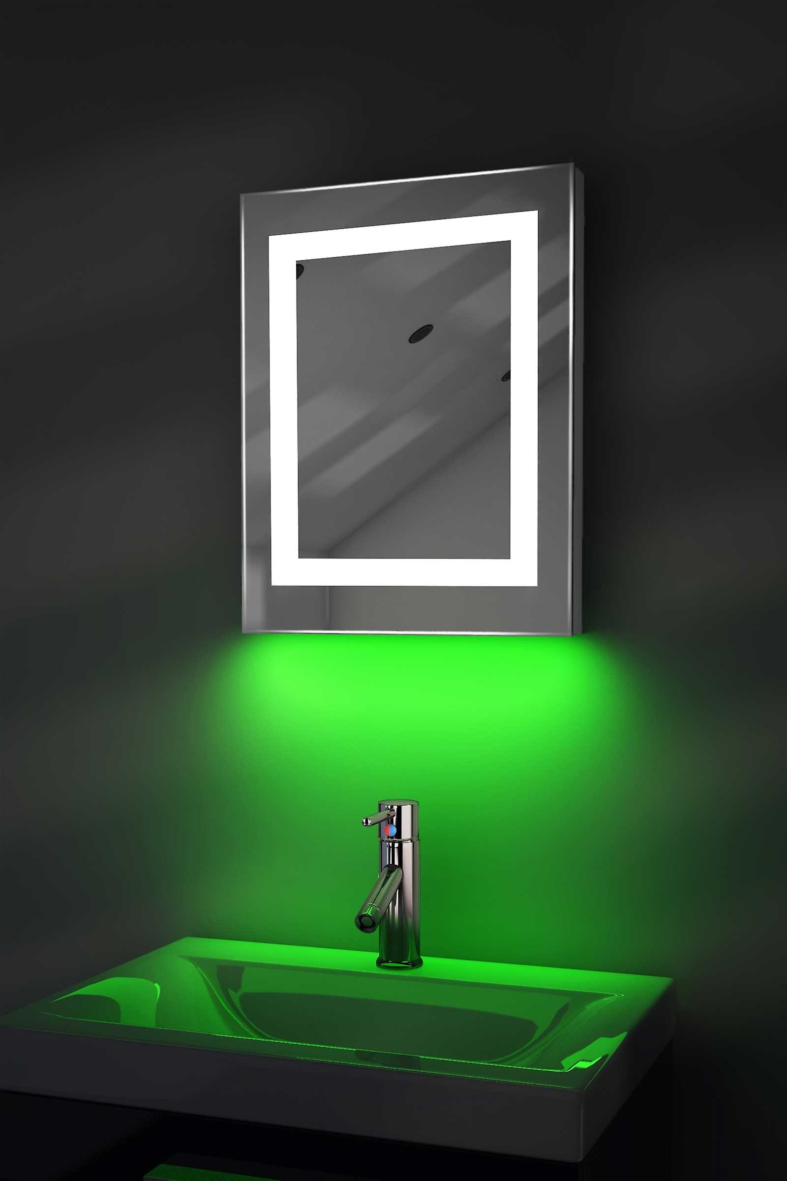 Auto Colour Change Shaver Mirror With Demister & Sensor K157irgbaud