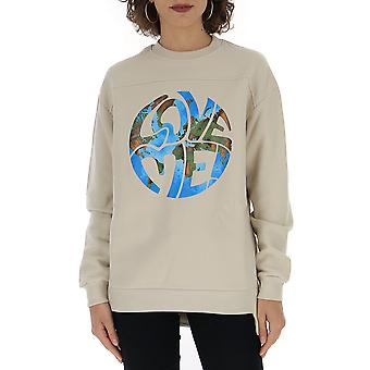 Alberta Ferretti 17026660j0463 Dames's Beige Cotton Sweatshirt
