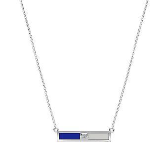 Chelsea FC Diamond Pendant Necklace In Sterling Silver Design by BIXLER