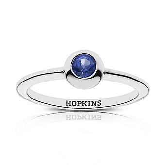 Johns Hopkins University Sapphire Ring In Sterling Silver Design di BIXLER