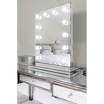 Diamond X Mirror Finish Hollywood Makeup Mirror Dimmable LED h252CW