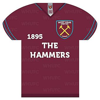 West Ham United FC Shirt Shaped Sign