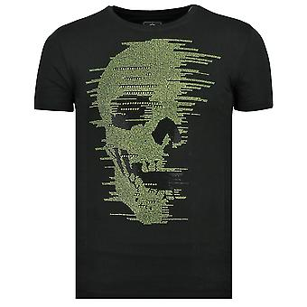Teschio Glitter - T-Shirt - 6338 - Nero