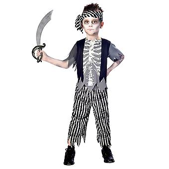 Garçons Zombie Pirate Boy Halloween Fanc Costume de robe