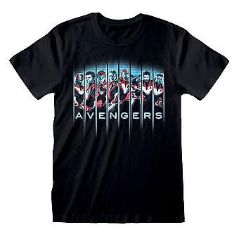 Men's Avengers Endgame Line-up Black T-Shirt