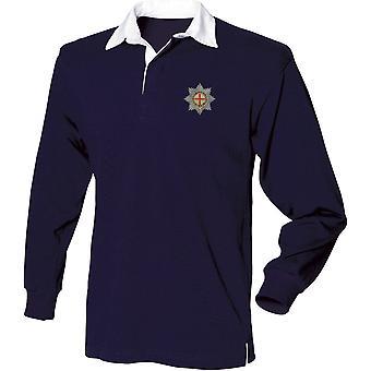 Coldstream Guards-lisensoitu Britannian armeijan kirjailtu pitkähihainen Rugby-paita