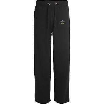 Pára-quedas Regimento sniper-licenciado British Army bordado aberto hem Sweatpants/jogging Bottoms