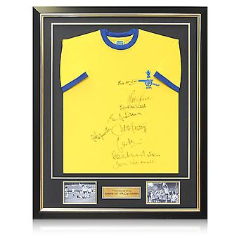 Arsenal 1971 FA Cup Winners Signed Football Shirt In Deluxe Frame