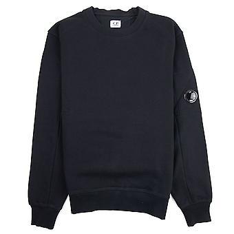 CP firma diagonal hævet fleece linse besætning sweatshirt sort 999