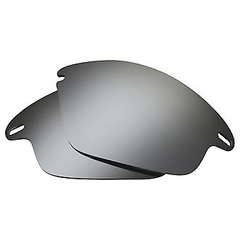 Polarized Replacement Lenses for Oakley Fast Jacket Sunglass Silver Anti-Scratch Anti-Glare UV400 by SeekOptics