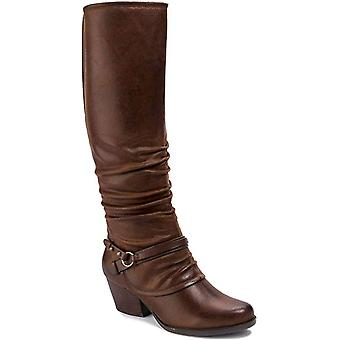 Bare Traps Womens roz Fabric Almond Toe Knee High Riding Boots