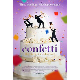 Confetti (dubbelzijdig regelmatige) originele Cinema poster