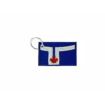Porte Cle Cles Clef Brode Patch Ecusson Badge Drapeau Toronto Canada