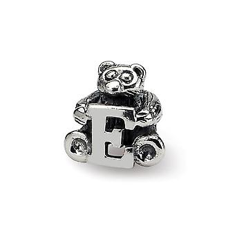 925 Sterling Silver finish Reflections Kids Letter Name Personalized Monogram Initial  Bead Charm Pendant Necklace Jewel