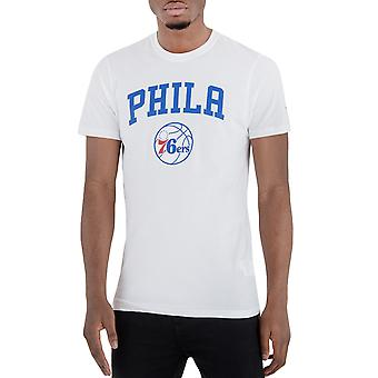 New era mens Philadelphia 76ers NBA basket kortärmad T-shirt-vit