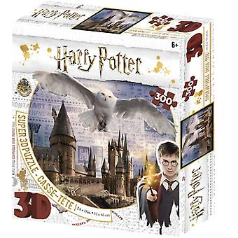 Harry Potter Hedwig Flying Over Hogwarts 300 Piece 3D-Look jigsaw puzzle (kc)