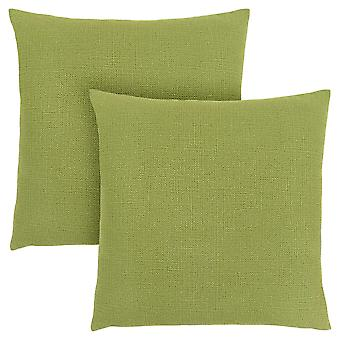 """18"""" x 18"""" Lime Green, Patterned - Pillow 2pcs"""