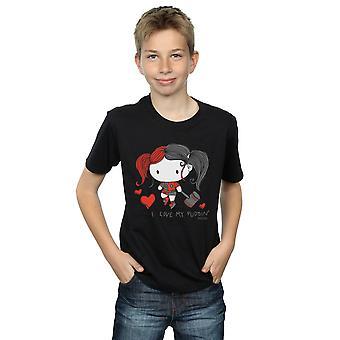 DC Comics jongens Justice League ik hou van mijn puddin ' T-shirt