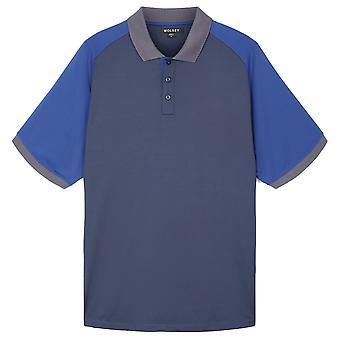 Wolsey Mens Colour Block Raglan Quick Dry Golf Polo Shirt